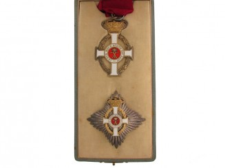 Order of King George I, 3rd Class Set. Spink.