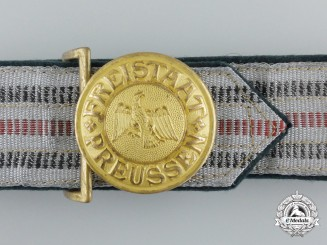 A Brocade Belt & Buckle of the Prussian Officer of Kommunalpolizei; Published Buckle