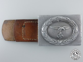 A Luftwaffe Enlisted Buckle & Tab, 1935 Pattern by Maory & Co.