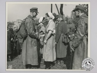 An Official Press Photograph of Surrendering German Officer in the Ruhr Pocket Photograph, April 1945