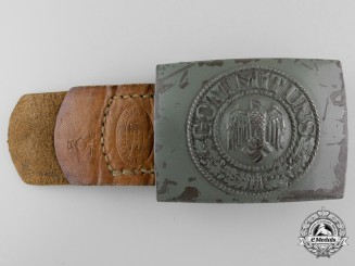 """A Kriegsmarine Enlisted Buckle; Tab Dated and Stamped """"M"""""""