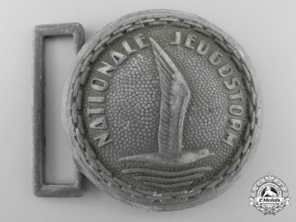 A Rare Dutch Youth Movement (Nationale Jugenstorm) Officer's Belt Buckle, Rare