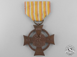 A Polish Cross of Merit of Central Lithuanian Army