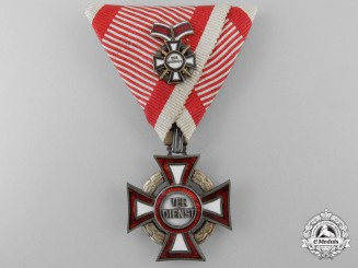 An Austrian Military Merit Cross Third Class with War Decoration