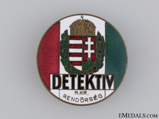 Hungarian DETEKTIV Badge, 1930's Period