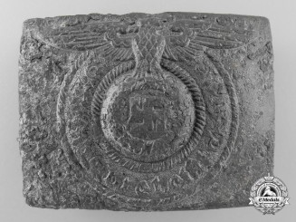 A Ground Recovered SS EM/NCO's Belt Buckle
