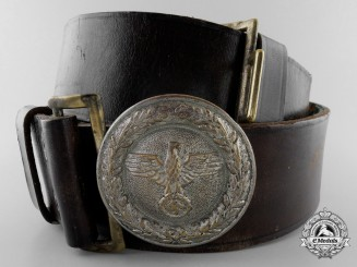 A Hessen and Baden State Forestry Service Official Belt & Buckle 1934-1937