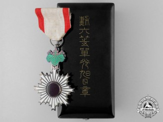 A Japanese Order of the Rising Sun; 6th Class with Cased (1930-1945)