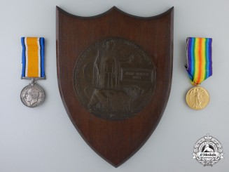 A Memorial Group to the son of the Commanding Officer of the 105th Overseas Battalion