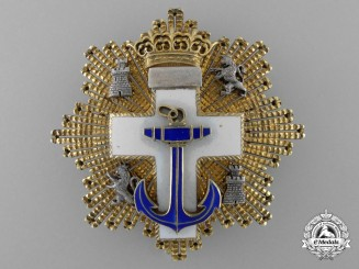 A Spanish Order of Naval Merit Breast Star; Admiral's Version