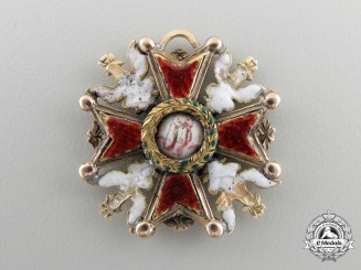 A Napoleonic Period Russian Order of St. Stanislaus in Gold