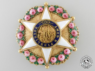 An Exquisite Brazilian Order of the Rose; Dignitary Breast Star in Gold