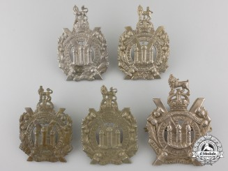 Five First & Second War British King's Own Scottish Borderers Glengarry Badges