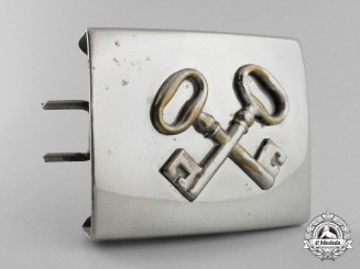 A German Civil Security/Civil Locksmith Union/Hotel Staff Attributed Belt Buckle; Published