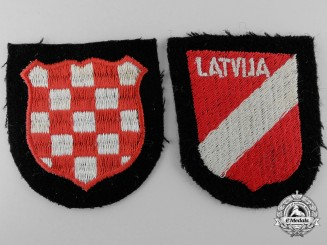Two Waffen-SS Sleeve Insignia