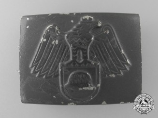 A Late Version Stahlhelm Belt Buckle