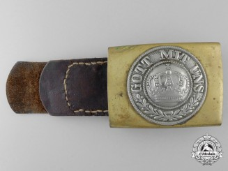 A German Imperial Army Enlisted Man's Belt Buckle