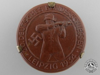 A 1934 20th German Shooting Competition at Leipzig Badge