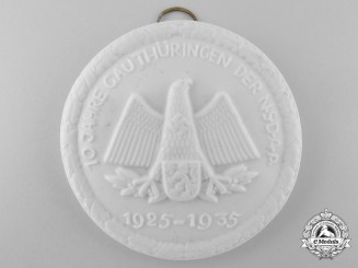 A 10th Anniversary of the NSDAP in the Thüringen District Award
