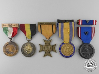 Five American National Guard Medals & Awards