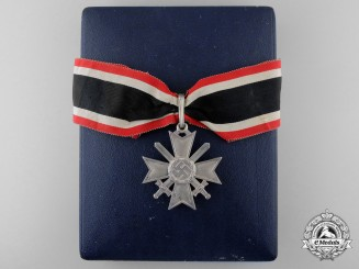 A Knight's Cross of the War Merit Cross with Swords by Deschler, In Case of Issue