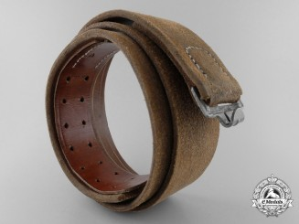 An Unusual Brown Leather Army Belt