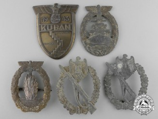 Five Second War German Heer & Kriegsmarine Badges