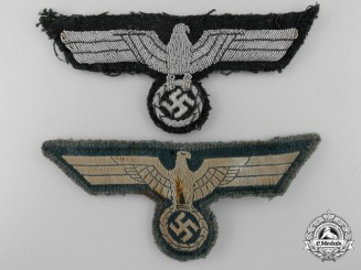 Two Army/Heer Breast Eagles; Enlisted & Officers