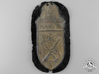 A Kriegsmarine Issue Narvik Shield; Uniform Removed