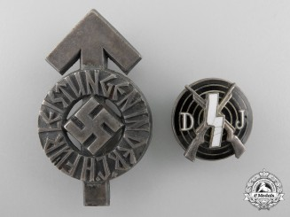 Two German Youth Badges