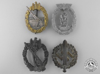 Four Second War German Badges & Awards