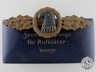 A Bronze Grade Reconnaissance Clasp with Case to Luftwaffe Oberleutnant Karl Schuh