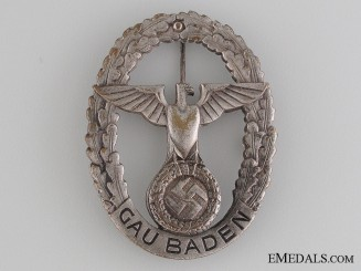 Large GAU Honor Badge Baden
