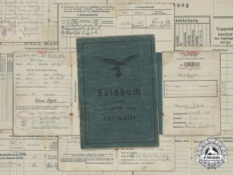 The Soldbuch of Oberfeldwebel Werner Kahnt; German Cross in Gold & Honour Goblet