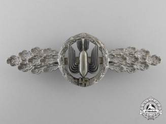 A Luftwaffe Squadron Clasp for Bomber Pilots; Silver Grade by G.H. Osang