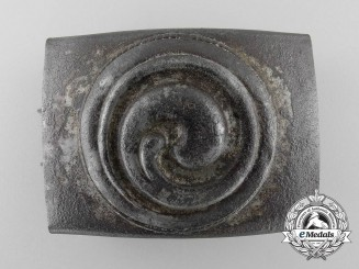 "A ""Neutral"" Spiral Pattern Replacing a Wartime HJ Insignia Belt Buckle; Published Example"