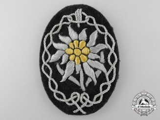 A Uniform Removed Army Gebirgsjäger Officer's Arm Badge