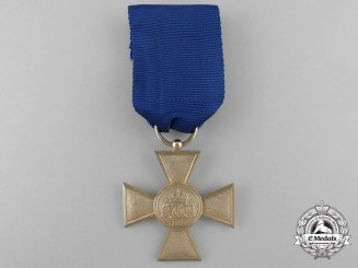 A Prussian Military Long Service Cross for Twenty Five Years' Service