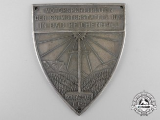 An Early 1934 SS Award Plaque for a Motor Unit Meet at Bad Reichenhall