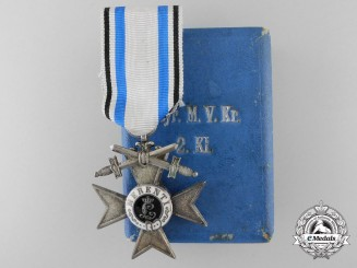 A Bavarian 2nd Class MVK with Swords; In Case of Issue