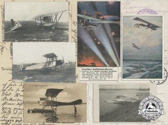 Seven First War German Imperial Airplane Postcards