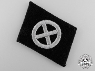 A French Volunteer Charlemagne Collar Tab
