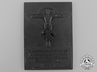 A 1939 National Socialist Flying Corps Gliding Competition Award