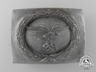 A 1940 Pattern Luftwaffe Enlisted Man's/NCO's Belt Buckle by Christian Theodor Dicke