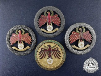 Four German Master Shooting Awards in a Presentation Case