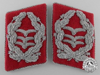 A Rare Set of Scarce Luftwaffe Justice Oberst's Collar Tabs