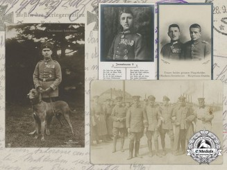 Four First War German Imperial Airmen Picture Postcards
