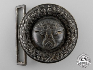 A National Socialist Motor Corps Officer's 2nd Pattern Belt Buckle; Published Example