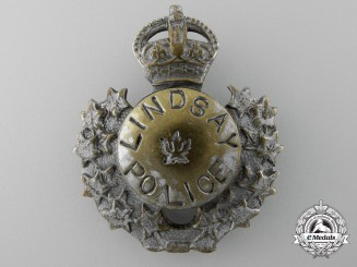 A 1930's Lindsay Ontario Police Breast Badge