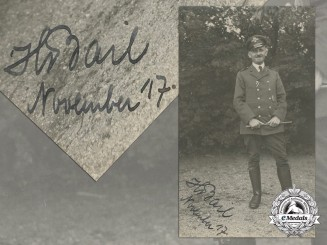 A First War Prussian Naval Observer Photograph; Signed
